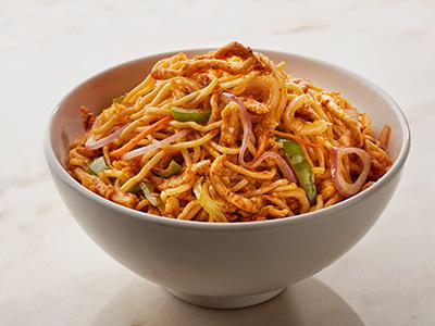 Spicy Chicken Schezwan Noodles