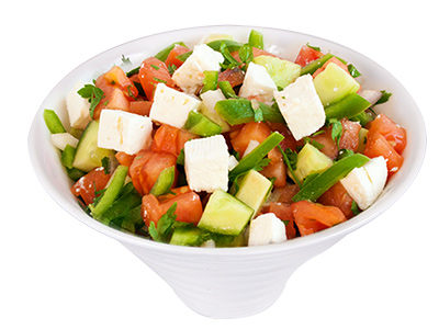 Coban Salad With Cheese
