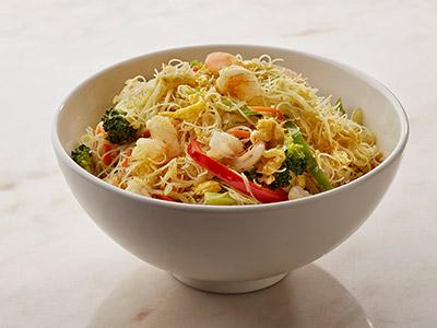 Spicy Prawn Singapore Noodles