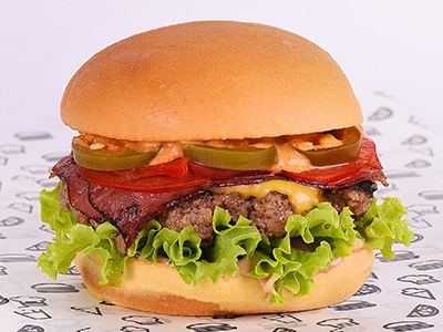Spicy Beef Bacon Burger
