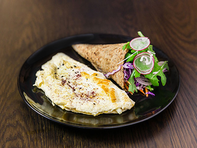 Low Fat Halloumi Omelette