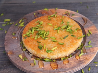 Kunafa Nabulsi With Cheese