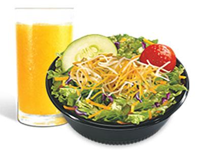 Salad And Orange Juice