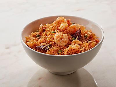 Spicy Schezwan Prawn Fried Rice