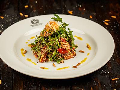 Insalata Di Quinoa Con Gamberi Salad