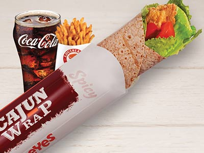 Spicy Cajun Wrap Meal