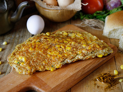 Masala Corn Omelette