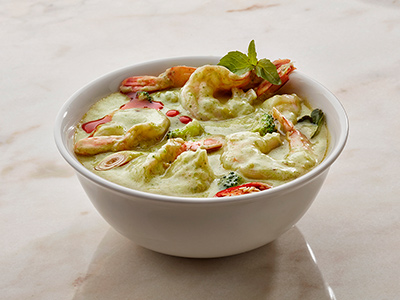 Spicy Vegetables In Thai Green Curry