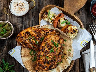 Chicken And Halloumi Platter