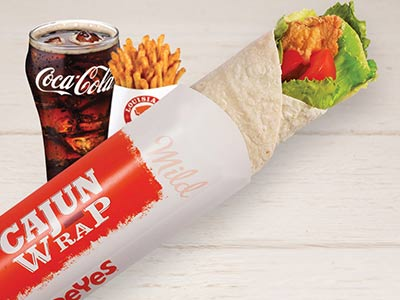 Mild Cajun Wrap Meal