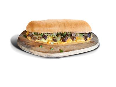 Black Pepper Sauce Steak Sandwich
