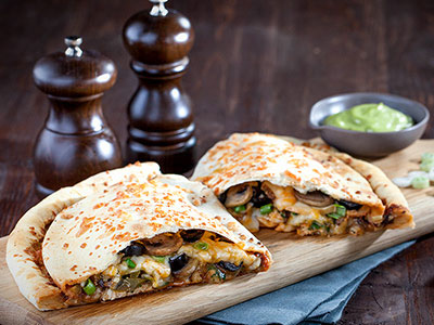 Calzone Chicken Quesadilla