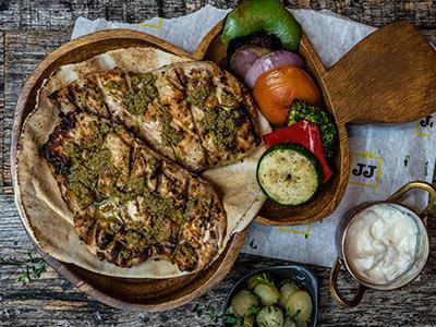 Grilled Veg Chicken Platter