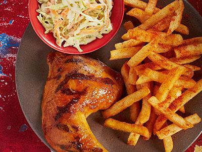 1/4 Chicken With 2 Regular Sides