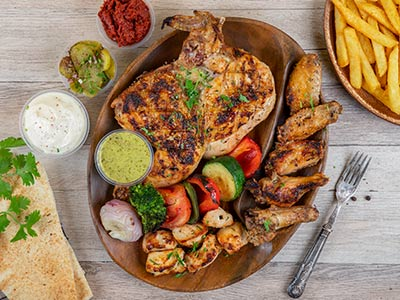 J J Chicken Mix Platter
