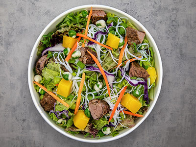 Mighty Wasabi Steak Salad