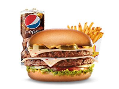 Jalapeno Double Cheeseburger Combo