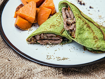 Spinach Tortilla Beef Wrap