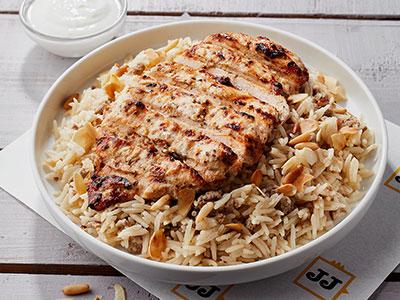 J J Platter With Rice