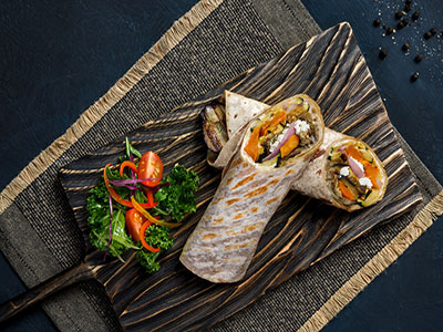 Roasted Root Veg Wrap