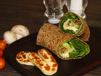 Low Fat Halloumi Wrap