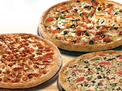 Order 10 Pizzas And Get 3 Free Large Pizzas