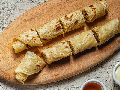 Paratha Wrap Cheese & Honey