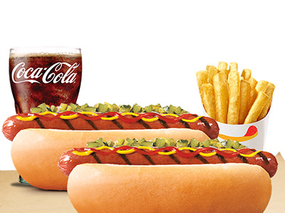 2 Hotdog+1 Fries+1 Coke Large