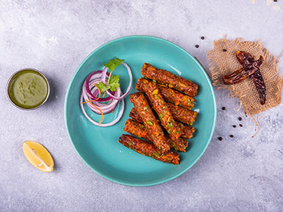 Gilafi Seekh Kebab