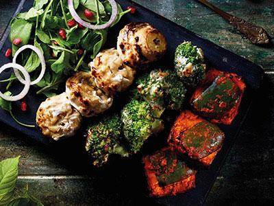 Vegetarian Kebab Platter