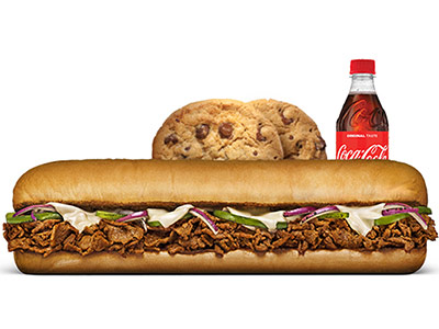 Steak And Cheese Footlong Meal