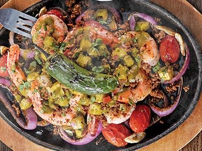 Roasted Jumbo Shrimp Fajitas