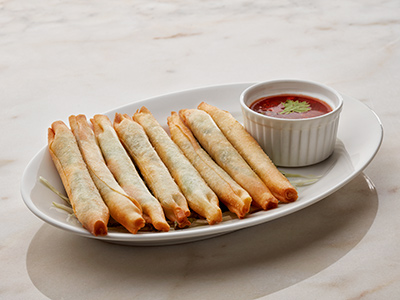 Cottage Cheese Basil Cigars