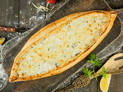 Mix Cheese Pide- 16.5 Inch