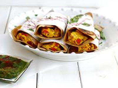 Paneer Bhurji Roll - With Egg