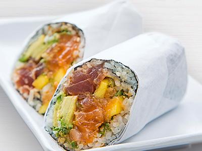 Salmon Tuna Burrito
