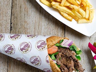 Small Beef Shawema Sandwich