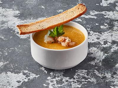 Pumpkin Soup With Prawns