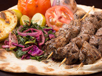Grilled Lamb Chunky In Al Khettar Style