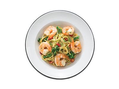 Spaghetti Gamberoni Piccante