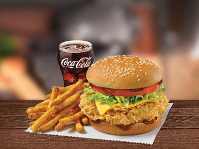 Cheesy Bbq Chicken Combo Sandwich