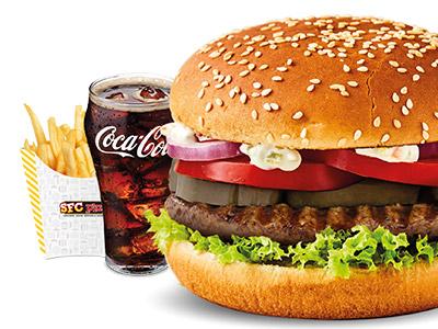 Flamethrower Beef Burger