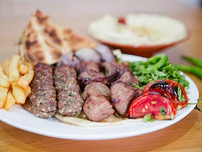 Mix Meat Cubes Tikka And Kabab