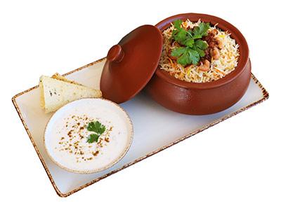 Malai Chicken Tikka Biryani