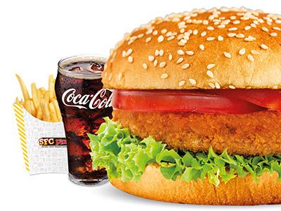 Vegetables Burger Meal