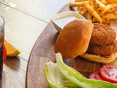 Falafel Burger Sandwich