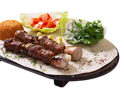Kebab With Grilled Onions