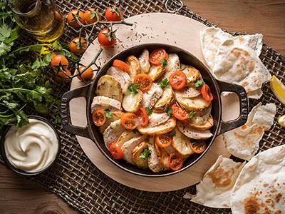 Potato Chicken Platter