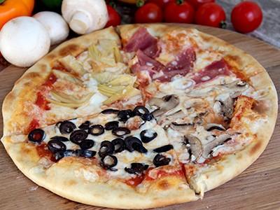 Small Quattro Stagione (four Seasons) Pizza