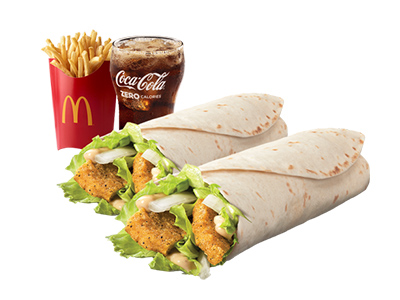 2 Chicken Snack Wrap Medium Meal